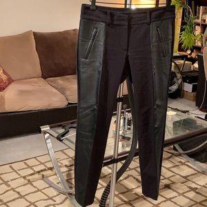 ANN TAYLOR- Faux Leather Trimmed Pants !